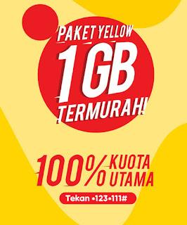 Paket Yellow 1 GB Sekarang Rp. 2000, Begini Cara Daftarnya