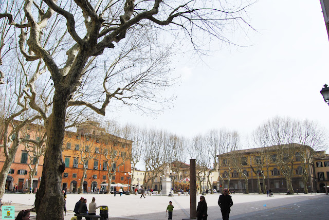 Plaza Napoleón en Lucca, la Toscana