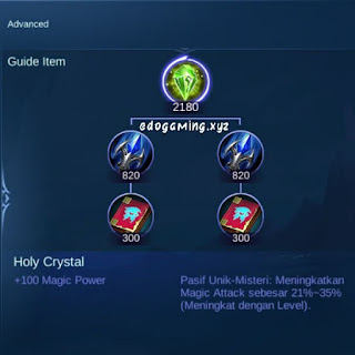 penjelasan lengkap item mobile legends item holy cystal