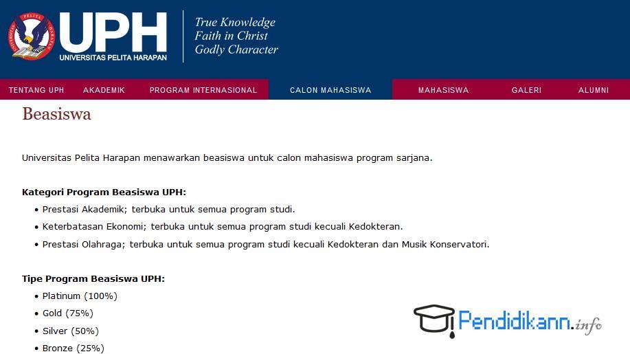 Informasi Beasiswa UPH Terbaru
