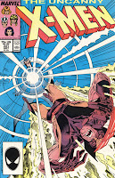Uncanny X-Men #221 comic book cover