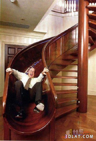 الدرج المتزحلق أروع ابتكار - ابتكارات غريبة وأفكار عجيبة يمكنك فعل مثلها