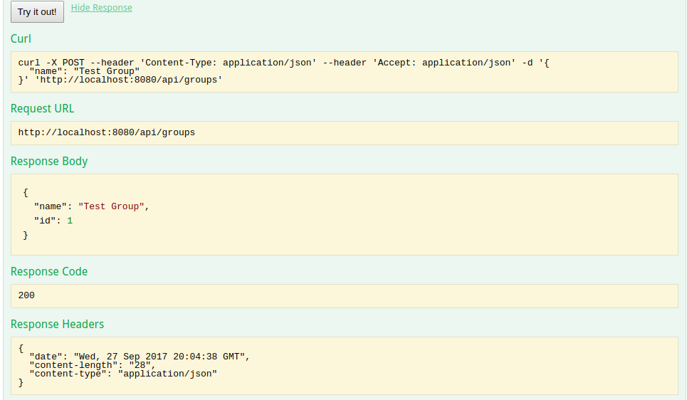 development blog: Swagger with SpringBoot