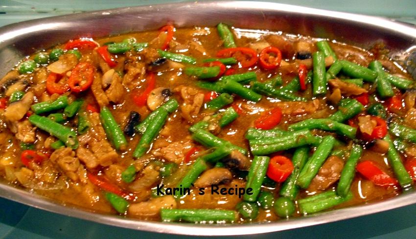 Karin S Recipe Tumis Kacang Panjang Tempe Sautéed Long Beans Tempeh