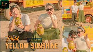 Preset Lightroom Pastel Yellow Sunshine