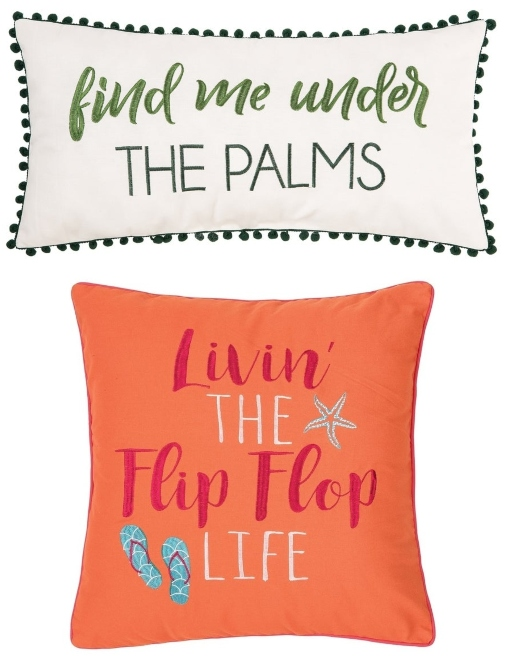 Decorative Quote Pillows with Embroidery