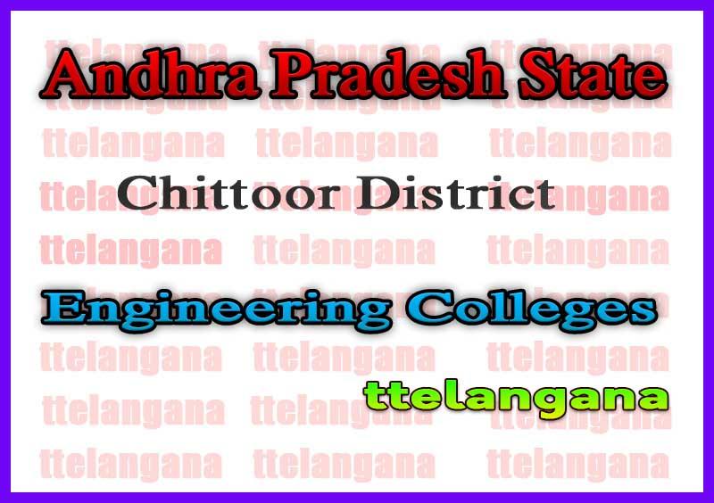 Engineering Colleges In Chittoor District Andhra Pradesh