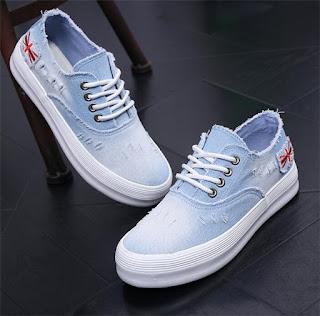 sepatu gaul abg blue jeans