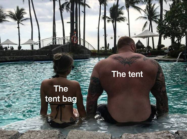 hafthor bjornsson and kelsey henson - The tent The tent bag