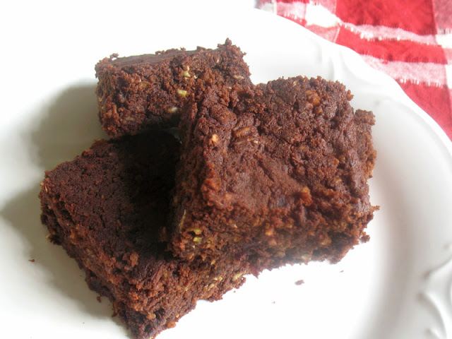Beetroot Chocolate Brownies with Coconut