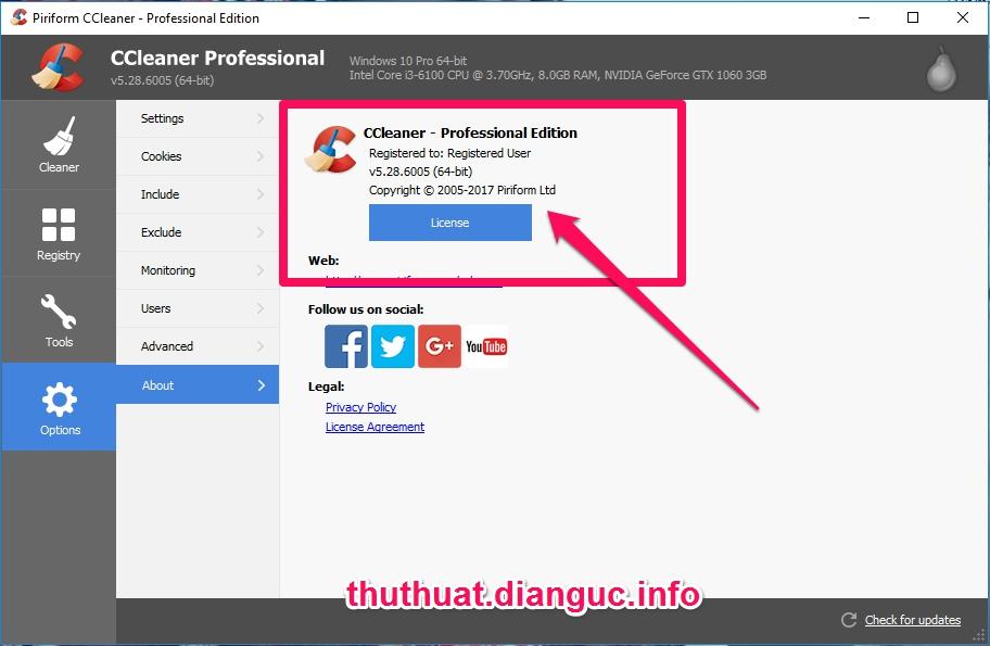 Download CCleaner v5.28.6005 Full Key miễn phí mới nhất