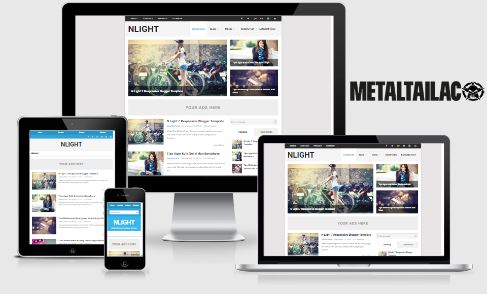 N Light Template Pro Responsive Blogger Templates