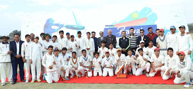 Rawal Cricket School won the match by 8 wickets in the 4th Raval Inter School Cricket Final