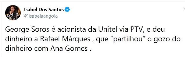 Soros, Rafael Marques, Ana Gomes…
