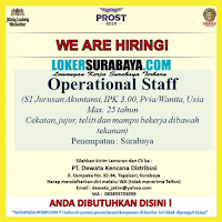 We Are Hiring at PT. Dewata Kencana Distribusi Surabaya Juli 2020