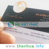 Mẫu In Thẻ Danh Thiếp Trong Suốt