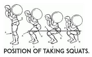 proper movement of squats,how take squats,squats forms,squats for great legs