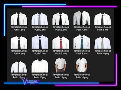 Download Kumpulan Template Kemeja Putih Pria PNG Dan PSD Kualitas HD
