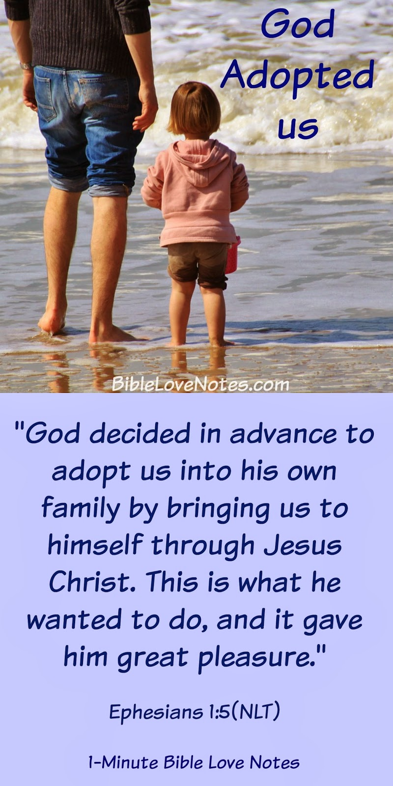 Ephesians 1:5, Adopted by God, God the Father
