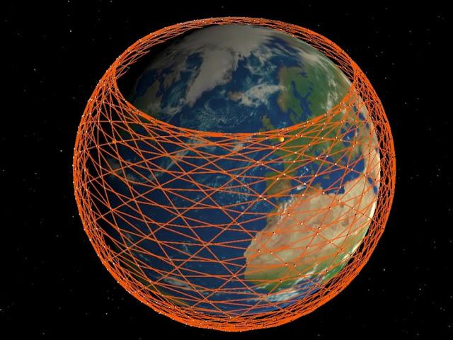 Mô phỏng mạng lưới các vệ tinh thuộc dự án Starlink cảa SpaceX
