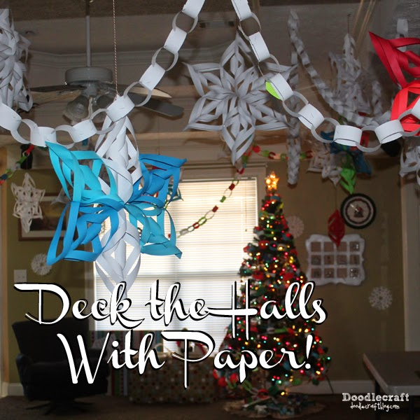 http://www.doodlecraftblog.com/2015/11/deck-halls-with-paper-3d-snowflakes-and.html