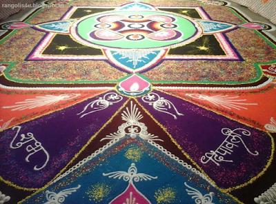 Large Diwali Rangolis