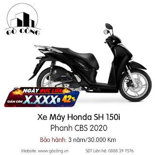 Bảng Giá Xe Máy Honda SH 150i Phanh CBS 2020 Mới Nhất Tháng 12/2020