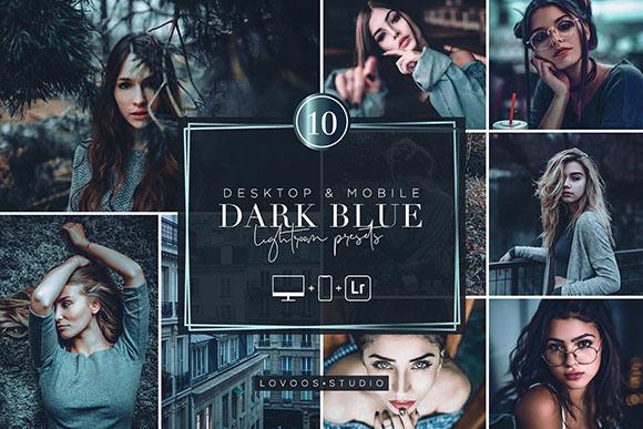 Tải Preset Lightroom tone đen xanh