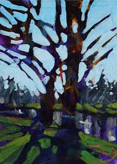 painting of island park williamsville
