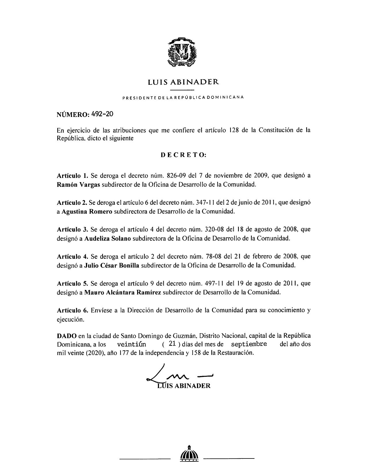 decreto 492-20