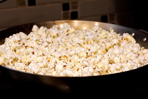 Popcorn popped in a wok