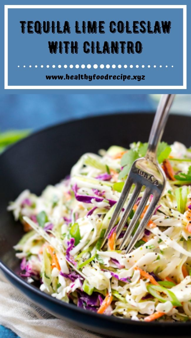 TEQUILA LIME COLESLAW WITH CILANTRO