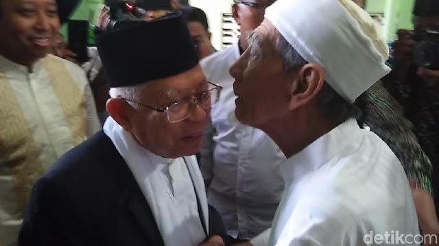KH Ma'ruf Amin: Dukungan Mbah Moen Bukti Jokowi Didukung Ulama