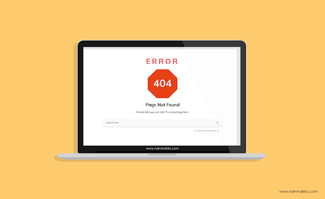 Cara Memasang Halaman Error 404 dengan Search Form