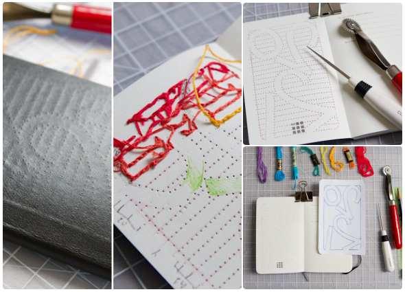 cuadernos bordados, coser tapas cuadernos, manualidades