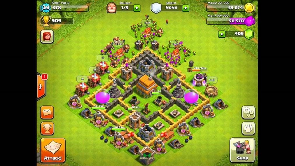 clash of clans 6 level town hall defense