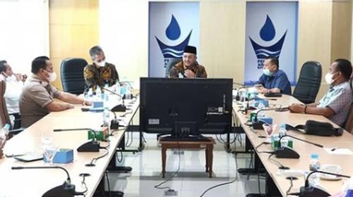 Perumda Air Minum Kota Padang Dikunjungi Komisi II DPRD Terkait PPKM Darurat
