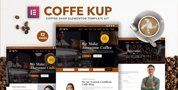Best Cafe & Coffee Shop Elementor Template Kit