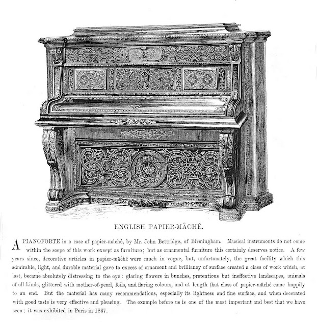 papier mache piano 1851