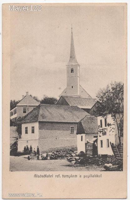 1917 - Alsósófalvi reformát templom a papilakkal