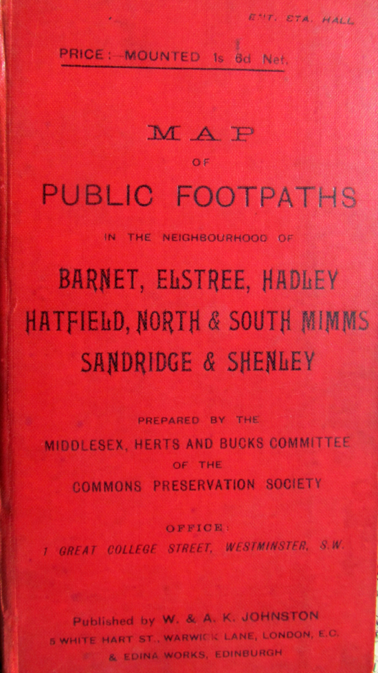 Photograph of the cover of Public Footpaths 1900s from The Peter Miller Collection