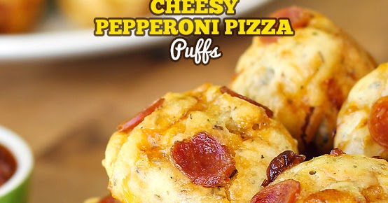 Bite Size Cheesy Pepperoni Pizza Puffs (With VIDEO)