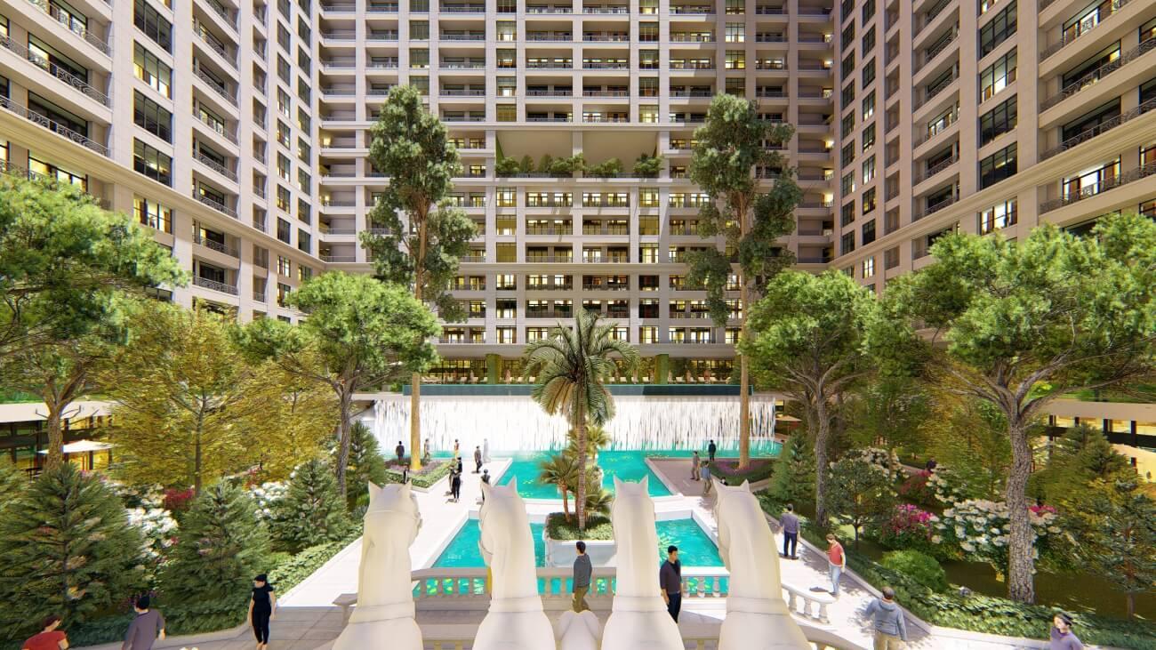 Không gian xanh chung cư Sunshine Garden