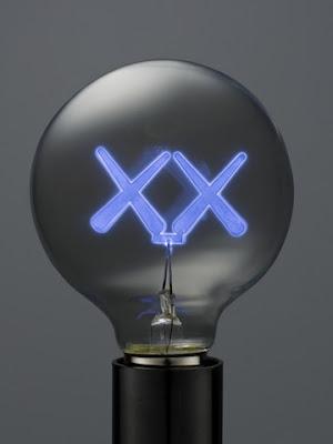 KAWS lightbulb design