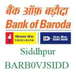 Vijaya Baroda Bank Siddhpur Branch New IFSC, MICR