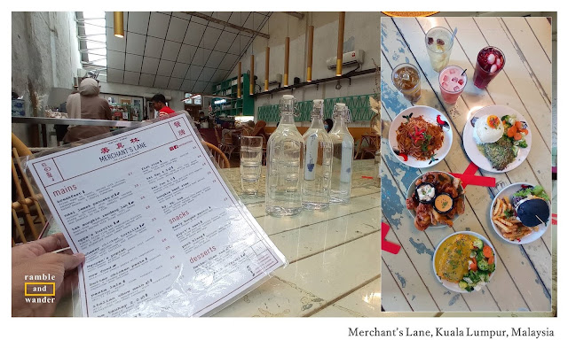 Merchant's Lane Kuala Lumpur, Malaysia - A Review by Ramble and Wander.