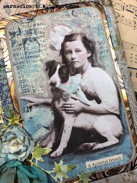 Sara Emily Barker https://sarascloset1.blogspot.com/ Tim Holtz Baroque Found Relatives Mixed Media Panel 2