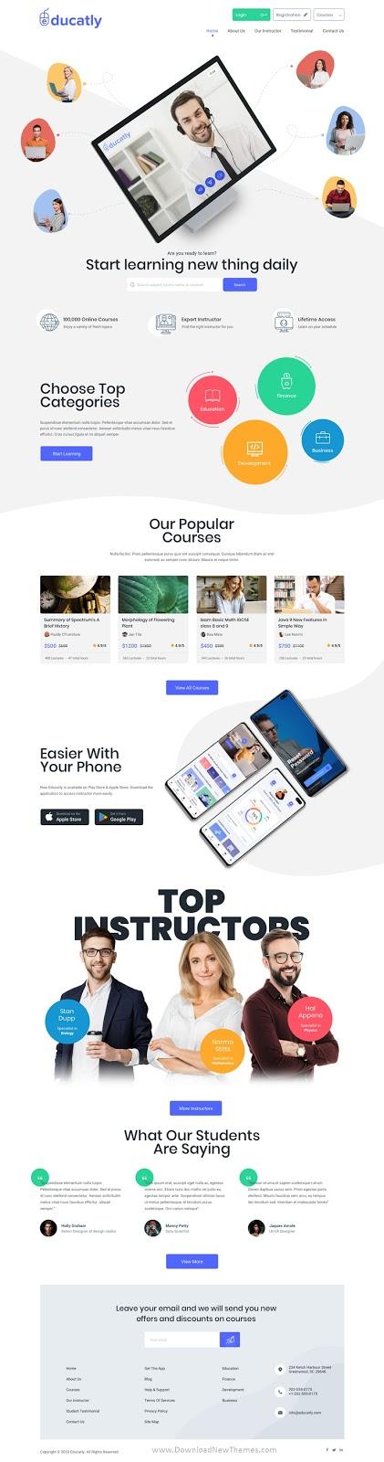 eLearning Website Template