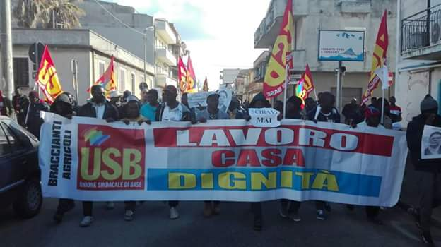 Photos: African migrants protest in Calabria, Italy after 26-year-old Nigerian woman dies in fatal fire at refugee camp