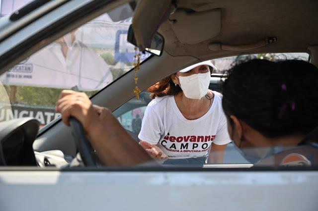 A las candidatas y candidatos de Morena las respalda el pueblo: Geovanna Campos